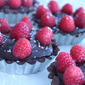 Chocolate Raspberry Tarts
