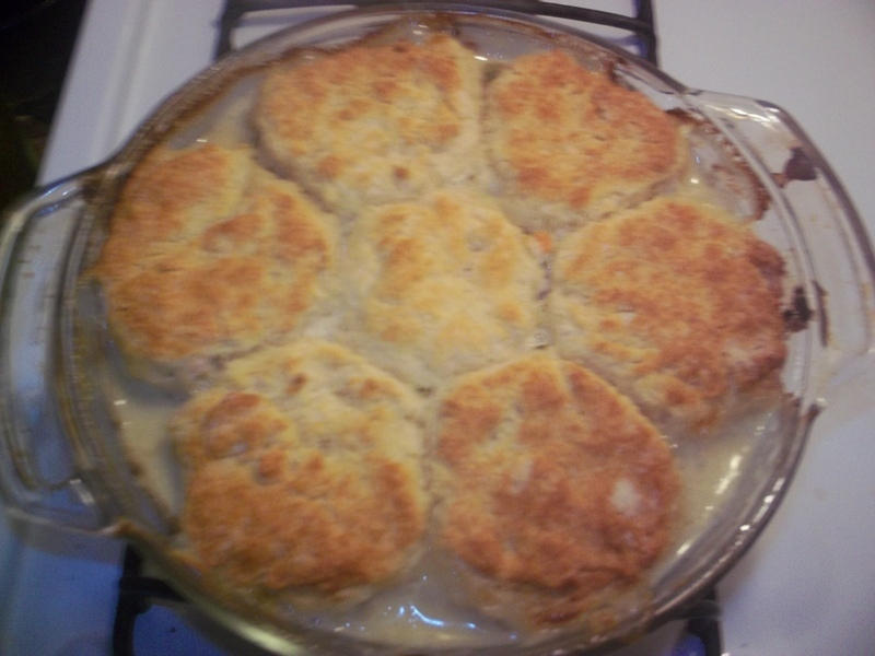 Chicken Pot Pie with Biscuit Crust Recipe by myra - CookEatShare