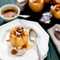 BAKED APPLES WITH HAZELNUTS, MAPLE CREAM + CREME FRAICHE