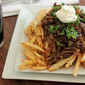 Duck Fat Fries smothered in Beef, Onion, Beer Gravy - a Meat and Potatoes Creative Cooking Crew Challenge