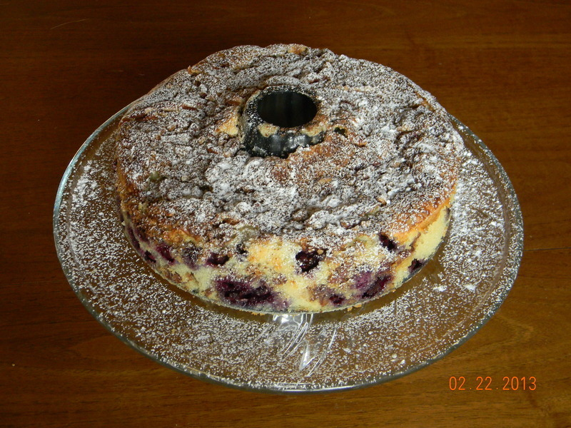 Blueberry Sour Cream Coffee Cake Recipe by Eric Young/Max Brand ...