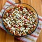 Vegetarian Greek Lentil Casserole Recipe with Bell Peppers and Feta