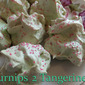 Mint Meringue Cookies