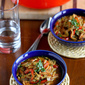 Hearty Chicken Sausage, Roasted Pepper & Whole Wheat Orzo Soup Recipe