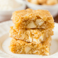 Macadamia Nut, Coconut & White Chocolate Blondies