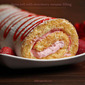 Swiss roll with strawberry mousse filling | Strawberry mousse roulade