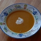 Roasted squash soup with spiced crème fraîche