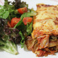 Ham, Zucchini and Caramelised Onion Lasagne