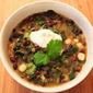 Spicy Black Bean, Hominy and Kale Stew