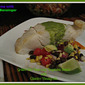 Grilled Sea Bass over Vegetable Salad with Cilantro Vinaigrette