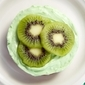 No Bake Kiwi Lime Cheesecake Tarts with a Gingersnap Crust