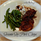 Inspired by Pinterest ~ Sesame Soy Pork Chops in the Crock Pot