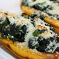 {Delicata Squash Stuffed w/ Collard Greens}