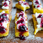 French Toast with Curd and Blackberry Jam