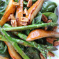 Warm Caramelized Pear and Asparagus Salad