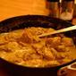 Mild chicken curry with coconut milk