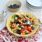 Chickpea & Vegetable Salad with Yogurt Tahini Dressing