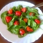 Baby spinach and strawberry salad...simply delightful!