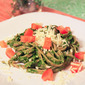 Whole Wheat Linguine with Spinach Herb Pesto
