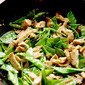Soybean Chicken and Snow Pea Stir Fry