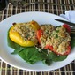 Quinoa Stuffed Peppers #MeatlessMonday