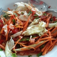 Vegetable Salad with Red Chili Dressing Recipe