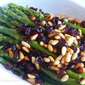 Asparagus with Pine Nuts and Cranberries