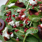 Spinach beet Salad with Strawberry vinaigrette