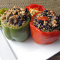 Recipe #349: Quinoa, Black Bean, & Feta Stuffed Peppers