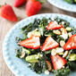 Kale, Strawberry & Avocado Salad with Lemon Poppy Seed Dressing