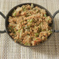 Greens beans and soya granules stir fry/poriyal