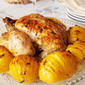 Chicken Roast with Herbs and Hasselback Potatoes