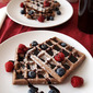 Chocolate Waffles and Homemade Chocolate Syrup