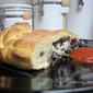 Calzone with Portobello Mushrooms and Goat Cheese