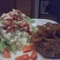 Spinach and Goat Cheese Turkey Burgers with Wedge Salad