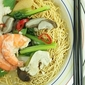 Sang Har Mien (Prawns with Crispy Egg Noodles)