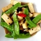 Stir-fried Tofu and Snap Peas