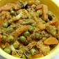 Mili-Juli Sabji~Mixed Vegetables in Onion-Tomato Gravy