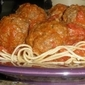 Spicy Parmesan Meatballs with Angel Hair Pasta