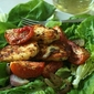 Tomato, Halloumi Salad with Lettuce