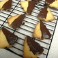 Orange Shortbread Cookies dipped in Chocolate