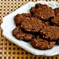 Recipe for Whole Grain Low-Sugar (or sugar-free) Chocolate Cookies with Pecans