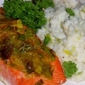 Salmon with Orange, Leek and Savory Mashed Cauliflower