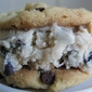 Homemade Peanut Butter Chocolate Chip Ice Cream Sandwich