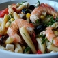Shrimp, Feta , Tomato & Casareccia salad - easy pasta salad for a hot summer night