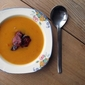 Butternut Squash and Sweet Potato Soup with Chorizo