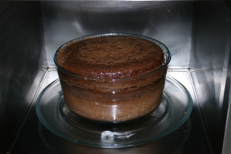 how to cook cake in microwave