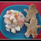 Gingerbread Man Bread with Chicken Salad