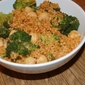 Harissa Couscous with Broccoli and Chickpeas