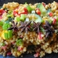 Pearl Cous Cous Salad with Fresh Mango and Cucumber